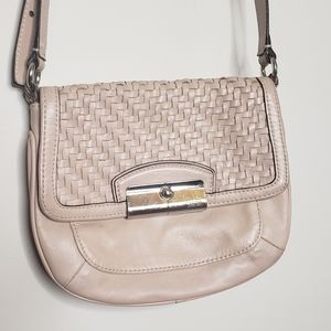 Coach vintage crossbody purse bag in pastel pink
